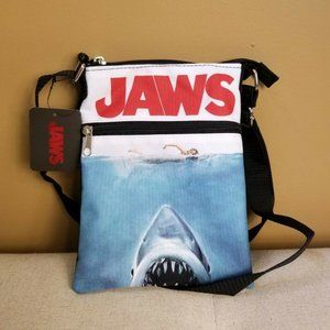 Jaws Movie Theme Passport Crossbody Bag NEW